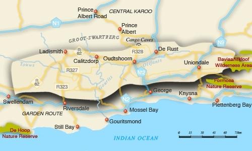 Zuid Afrika Klein Karoo locatie