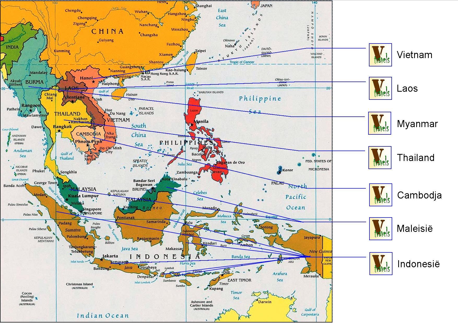 Bestemmingen prive rondreizen Azie